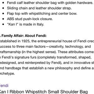 Fendi kan I small leather bag